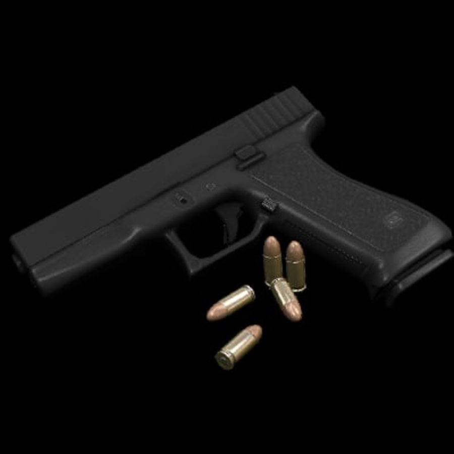 Glock 17 royalty-free modelo 3d - Preview no. 4