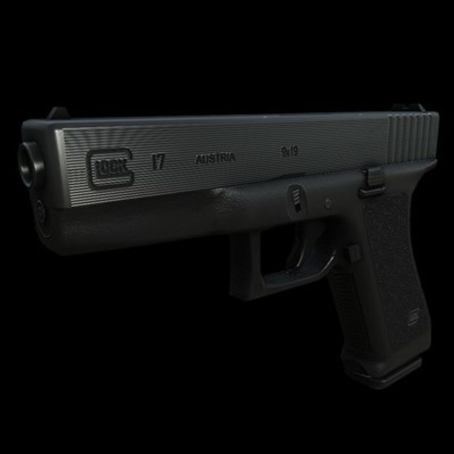 Glock 17 royalty-free modelo 3d - Preview no. 3
