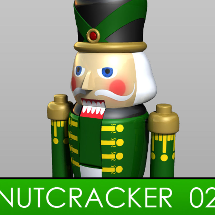 Nutcracker 02 royalty-free 3d model - Preview no. 1
