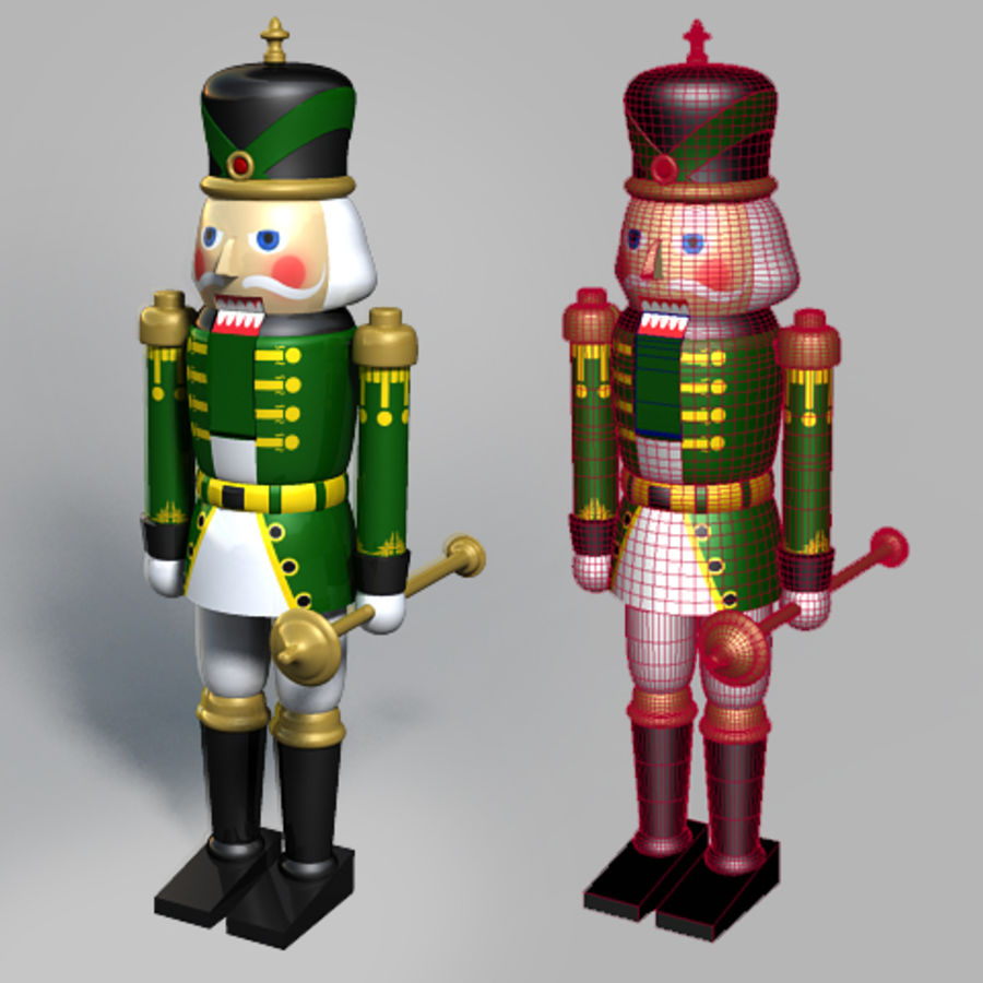 Nutcracker 02 royalty-free 3d model - Preview no. 3