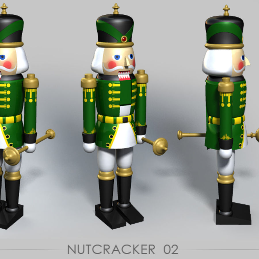 Nutcracker 02 royalty-free 3d model - Preview no. 2