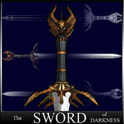 Sword of Darkness -  Schwert der Dunkelheit ! 3d model