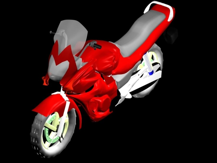 Sports Bike red royalty-free 3d model - Preview no. 1