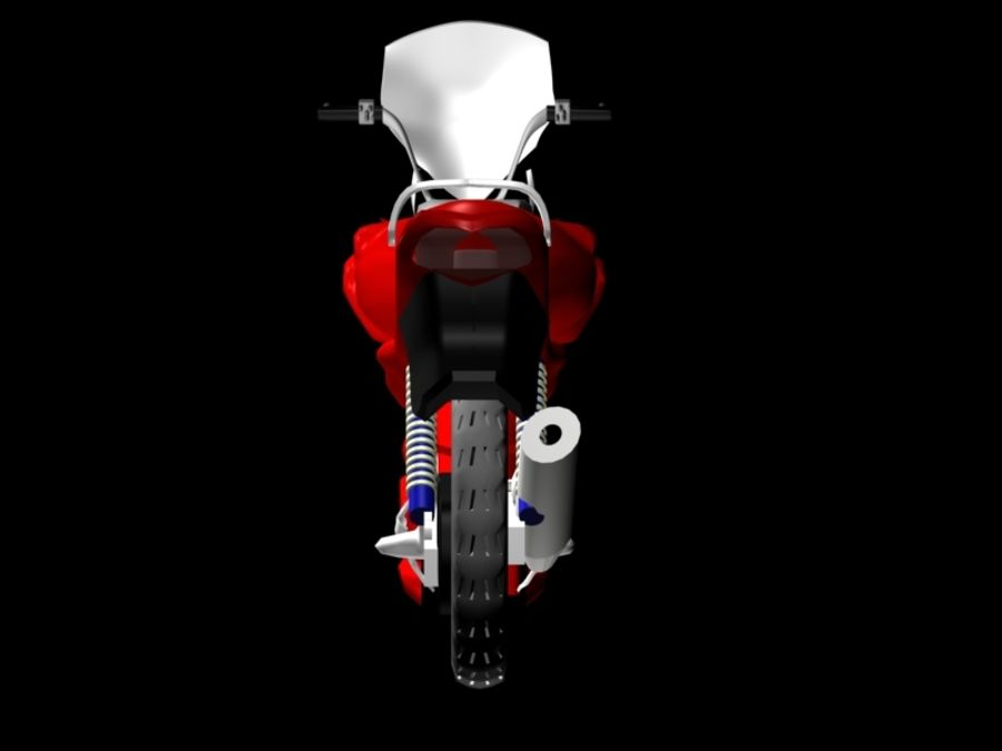 Sports Bike red royalty-free 3d model - Preview no. 2