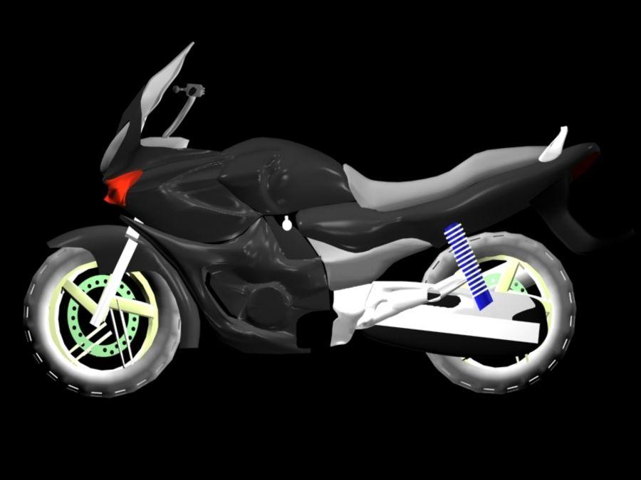 Sports Bike black royalty-free 3d model - Preview no. 3