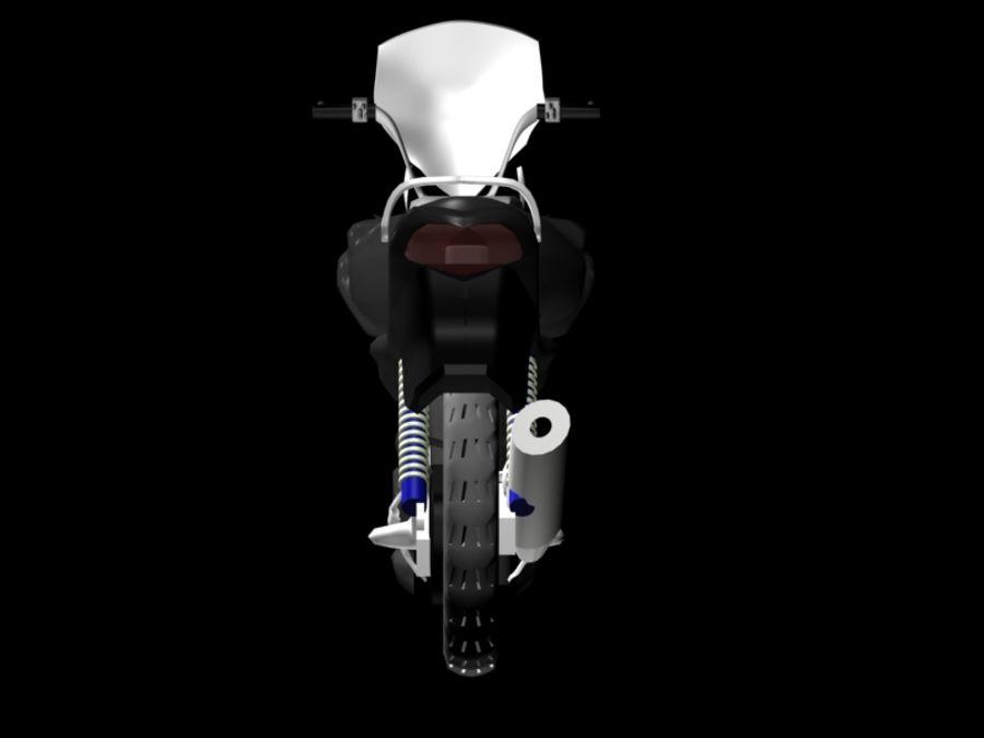Sports Bike black royalty-free 3d model - Preview no. 2