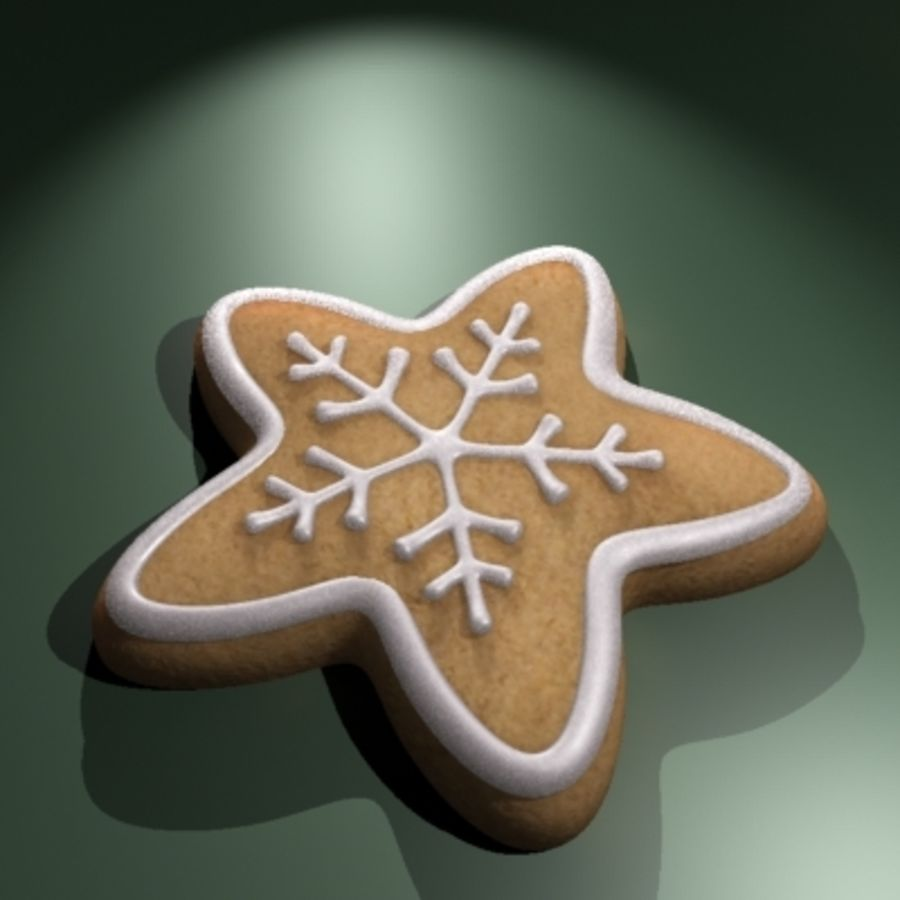 Christmas Cookie royalty-free 3d model - Preview no. 1