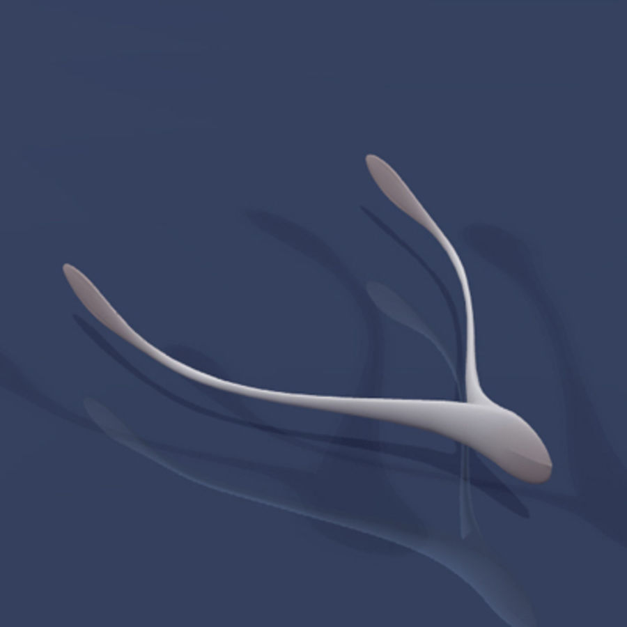 Wishbone.3dm royalty-free 3d model - Preview no. 7