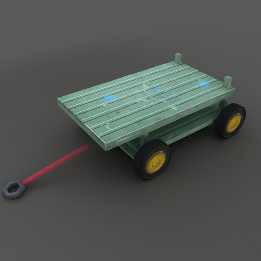 Cart royalty-free 3d model - Preview no. 2