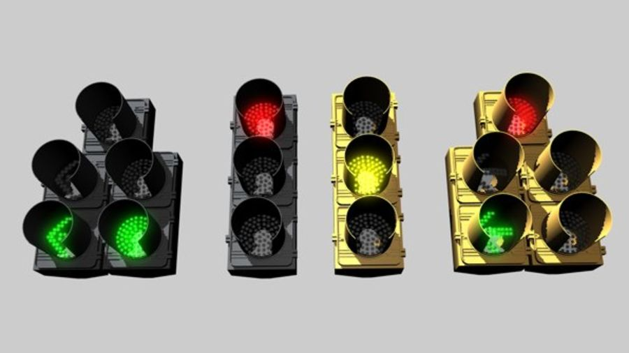 C4D LCD Traffic Signal royalty-free 3d model - Preview no. 2