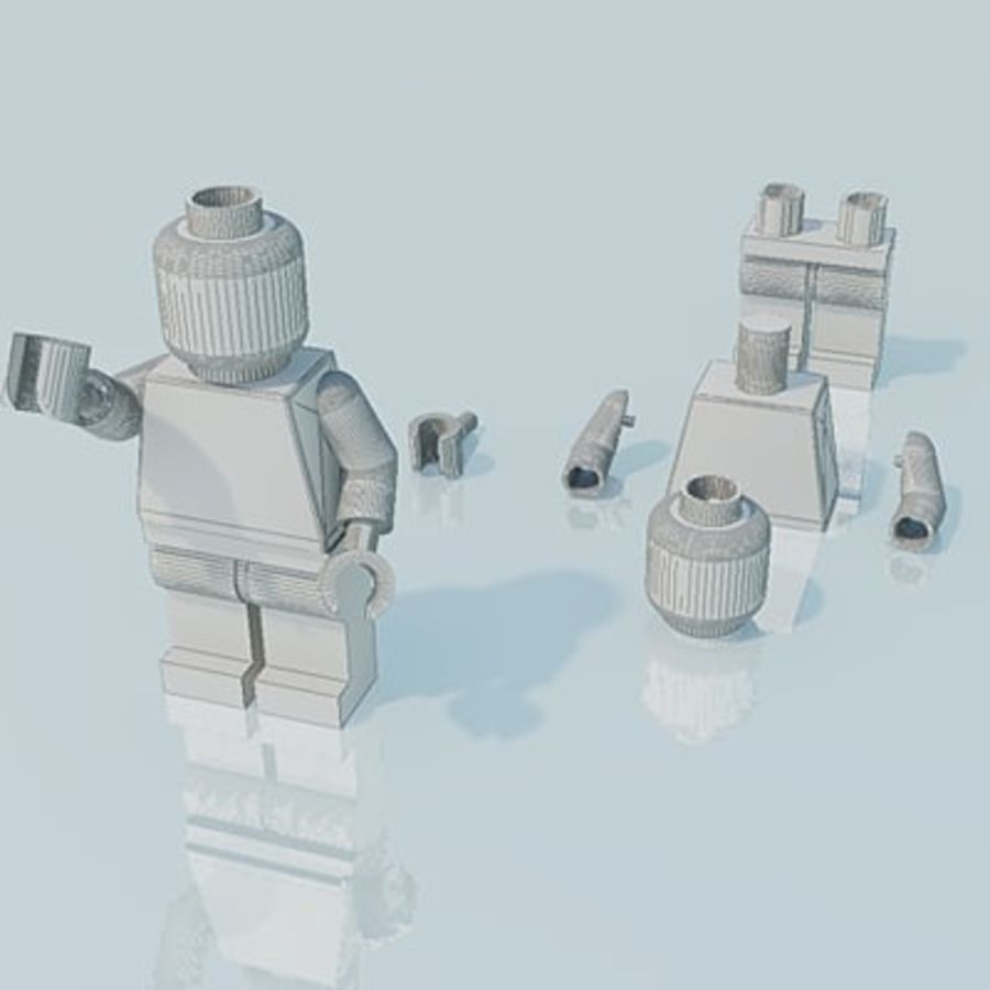 Lego man, police officer royalty-free 3d model - Preview no. 3