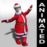 Santa Claus rigged and animated 3d model 3d model