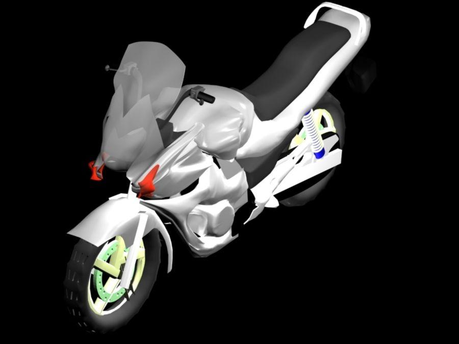 Sports Bike white royalty-free 3d model - Preview no. 1