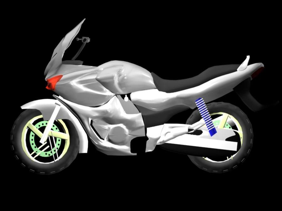 Sports Bike white royalty-free 3d model - Preview no. 3
