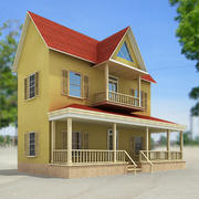 Small town house 44 by 3DRivers 3d model