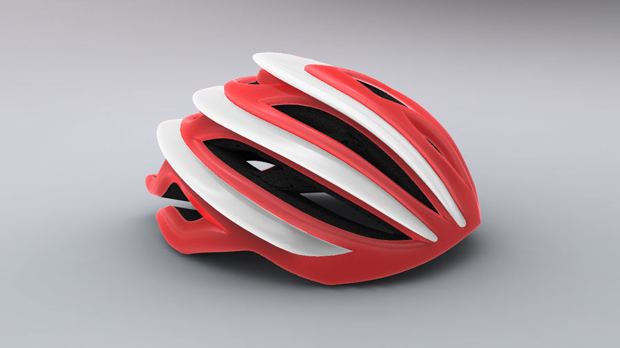 Sportig cykelhjälm royalty-free 3d model - Preview no. 1