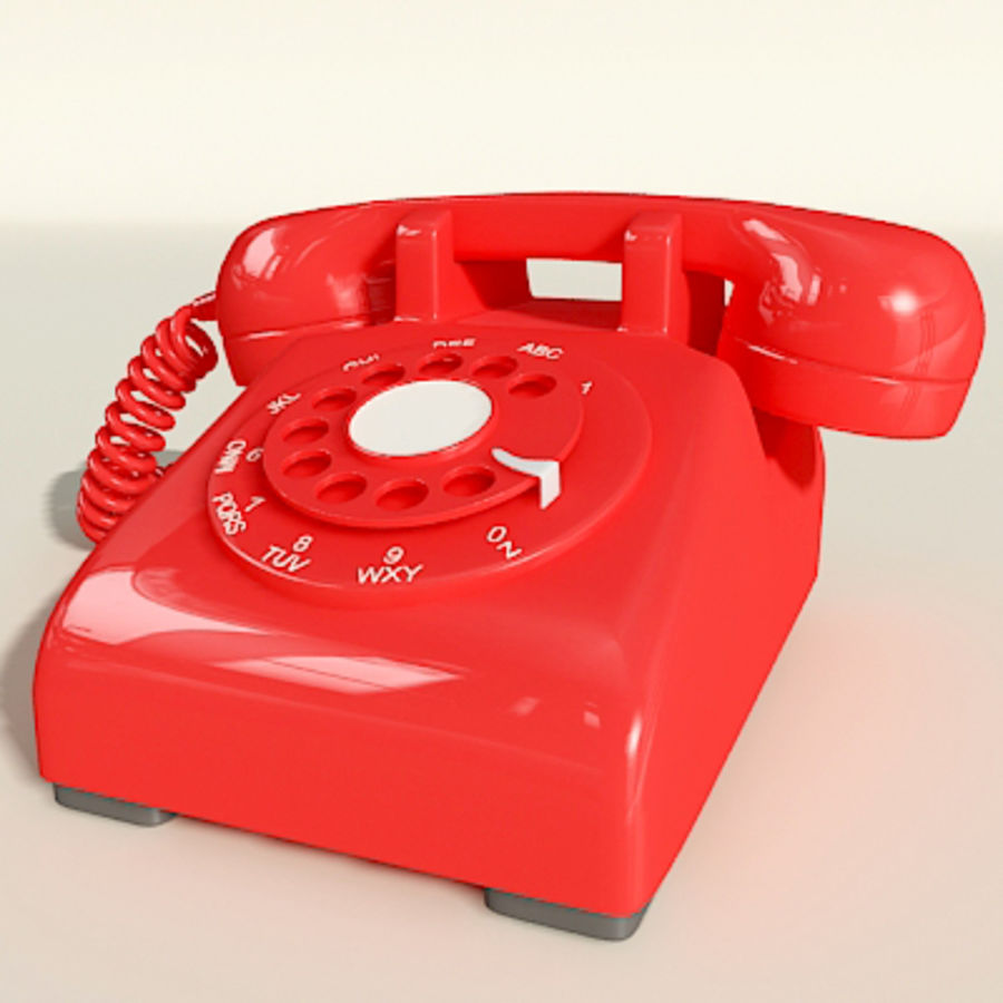Red Telephone royalty-free 3d model - Preview no. 8