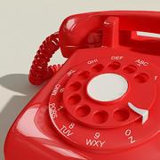 Röd telefon 3d model