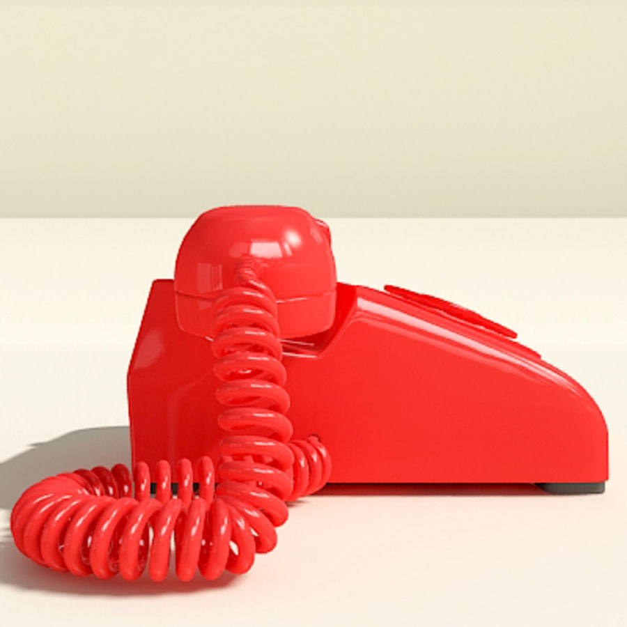 Red Telephone royalty-free 3d model - Preview no. 10