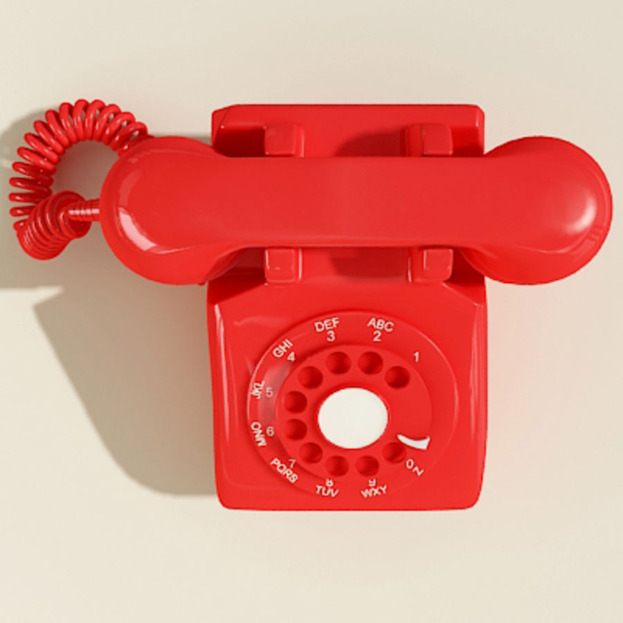 Red Telephone royalty-free 3d model - Preview no. 6