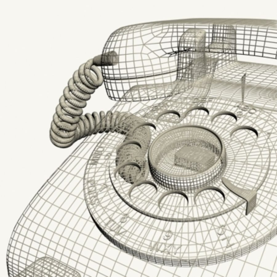 Red Telephone royalty-free 3d model - Preview no. 16