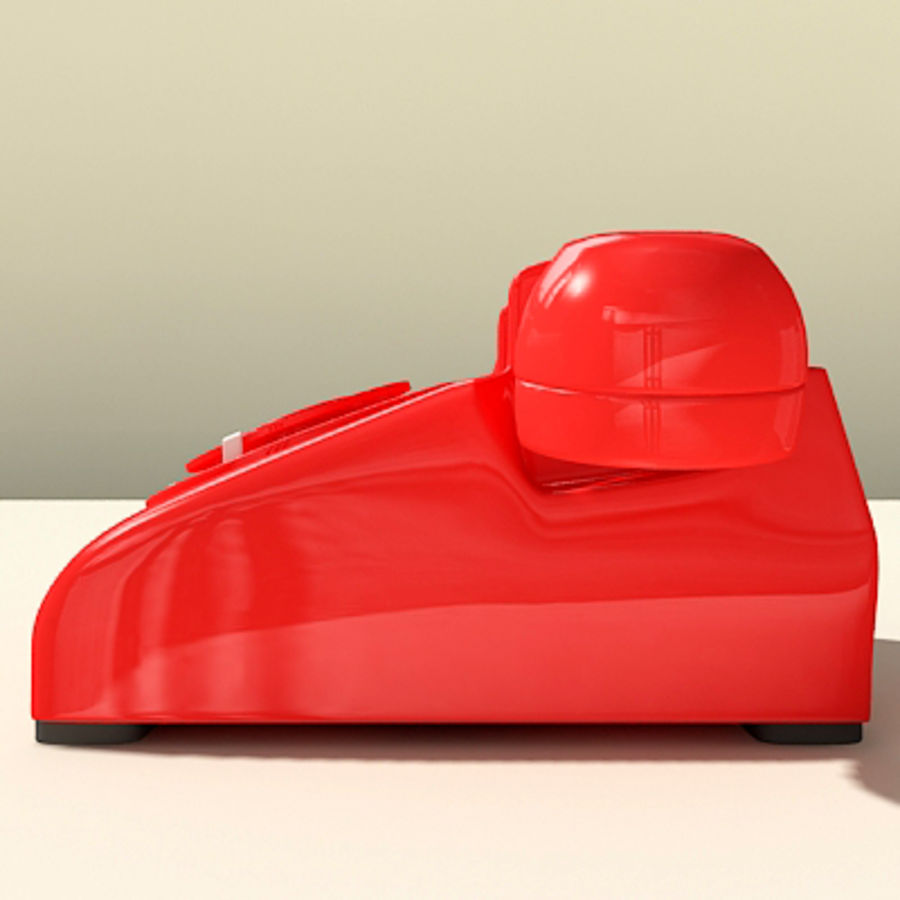 Red Telephone royalty-free 3d model - Preview no. 11