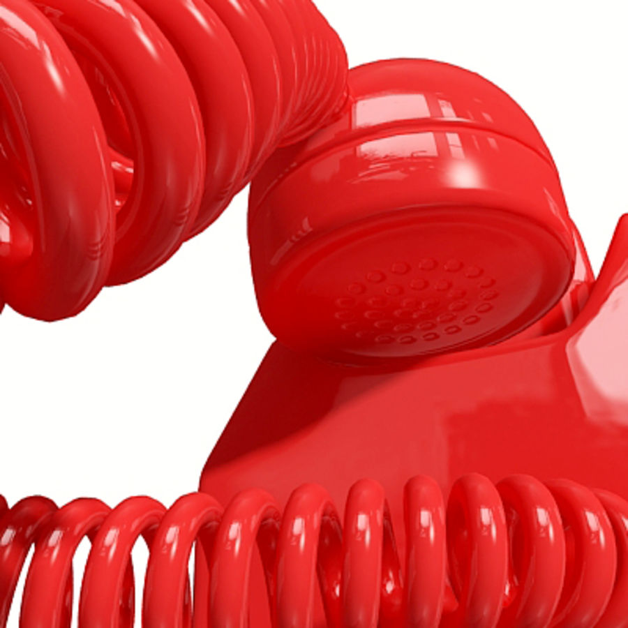 Red Telephone royalty-free 3d model - Preview no. 12