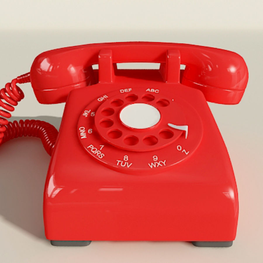 Red Telephone royalty-free 3d model - Preview no. 7