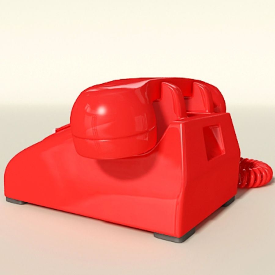 Red Telephone royalty-free 3d model - Preview no. 4