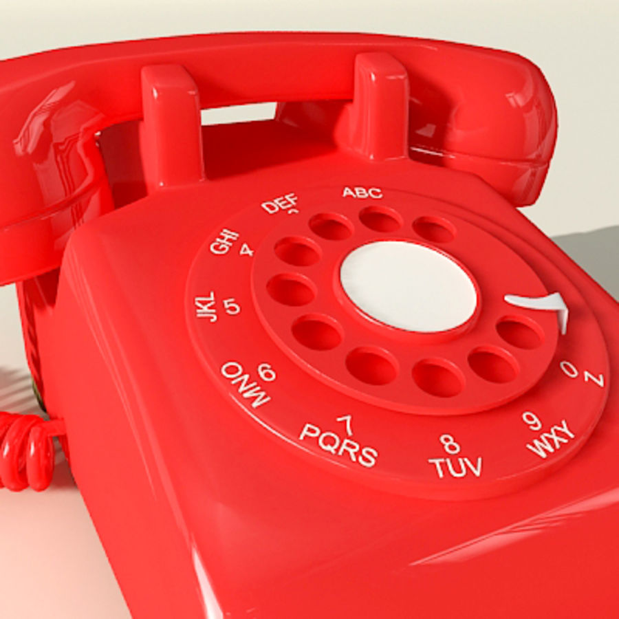 Red Telephone royalty-free 3d model - Preview no. 2