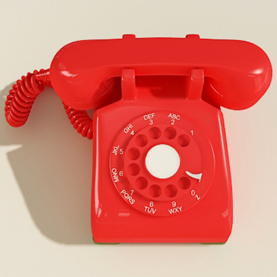 Red Telephone royalty-free 3d model - Preview no. 5