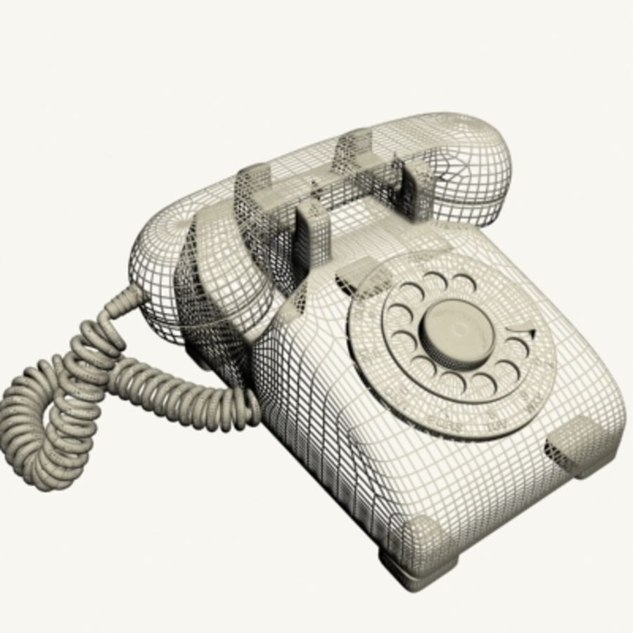 Red Telephone royalty-free 3d model - Preview no. 15