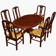 Antique Dining Table 3d model
