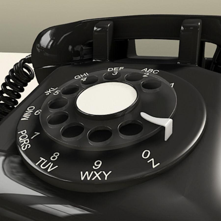 Téléphone noir royalty-free 3d model - Preview no. 9