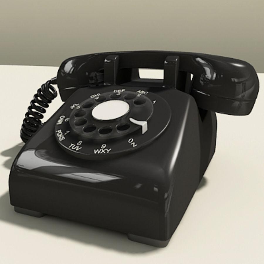 Téléphone noir royalty-free 3d model - Preview no. 8