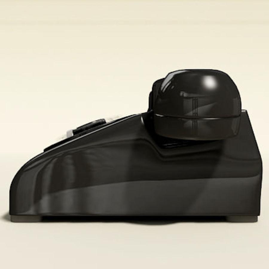 Téléphone noir royalty-free 3d model - Preview no. 11