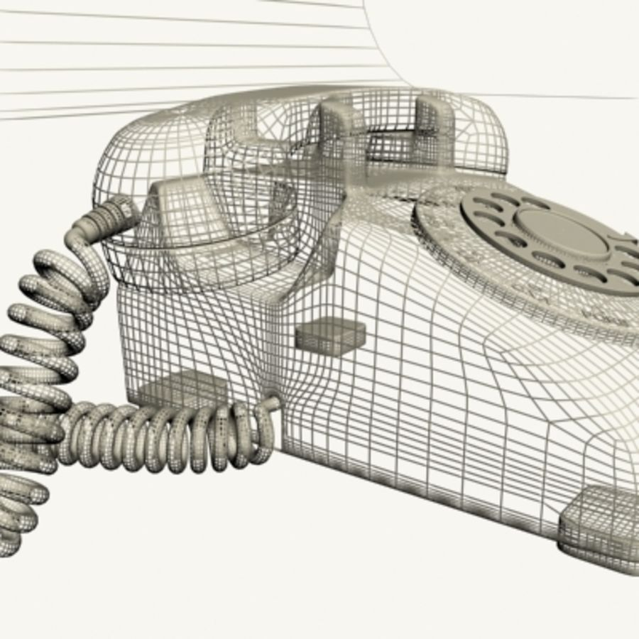 Téléphone noir royalty-free 3d model - Preview no. 17