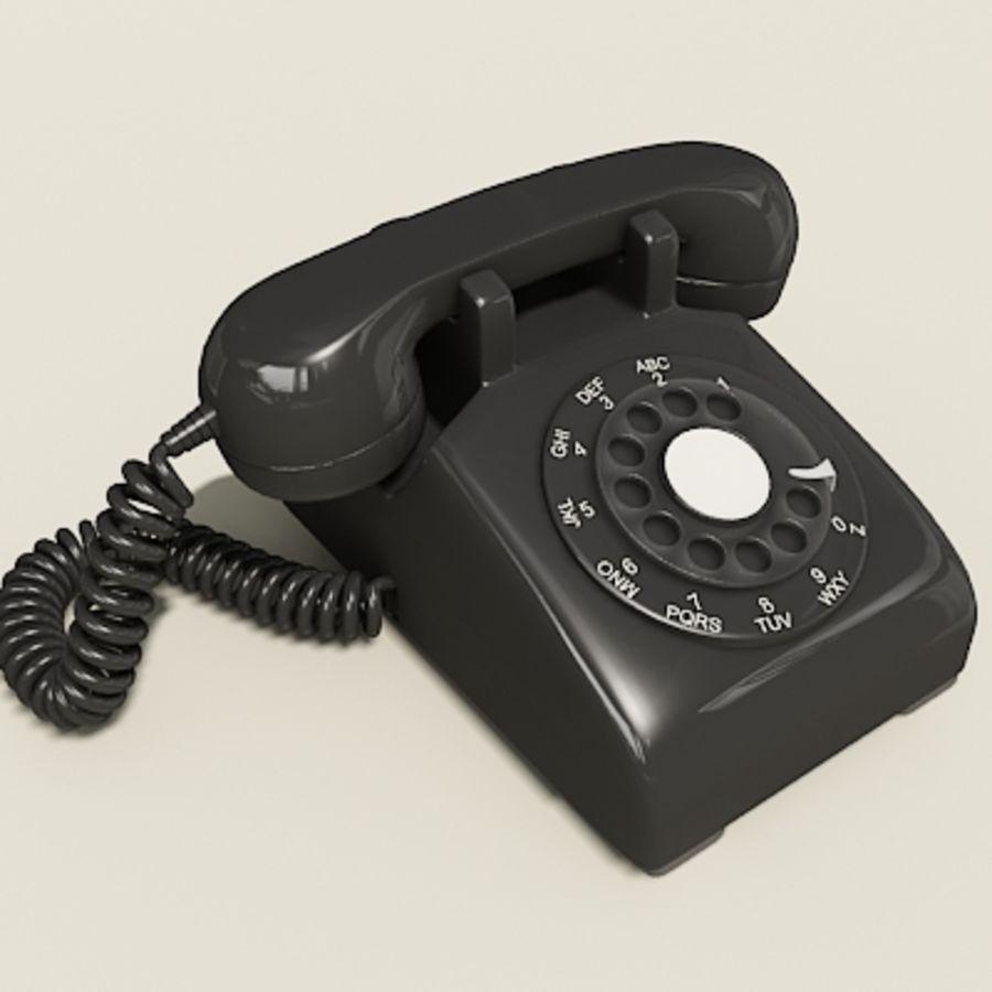 Téléphone noir royalty-free 3d model - Preview no. 14