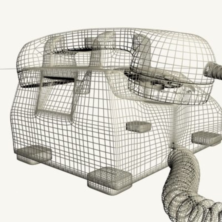 Téléphone noir royalty-free 3d model - Preview no. 18