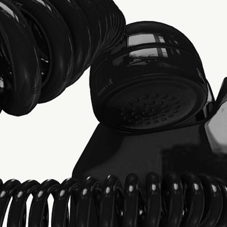 Téléphone noir royalty-free 3d model - Preview no. 12