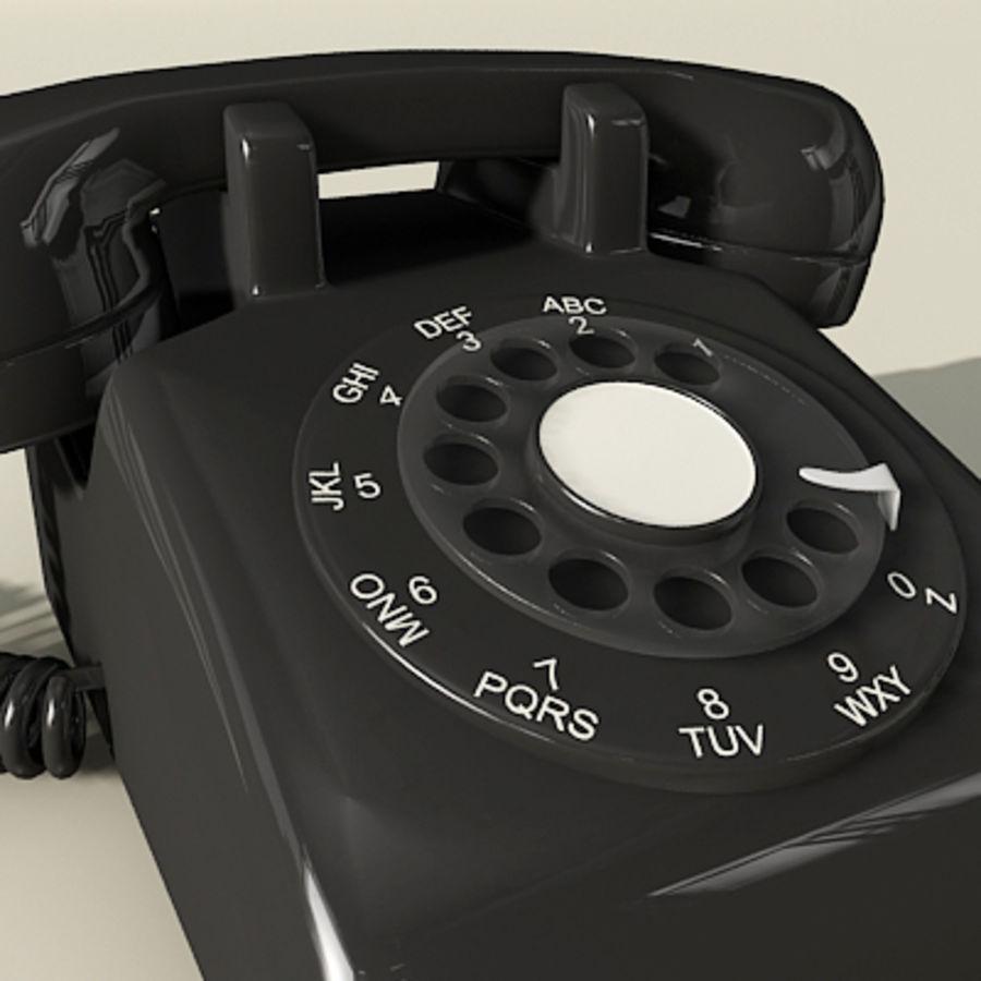 Téléphone noir royalty-free 3d model - Preview no. 2