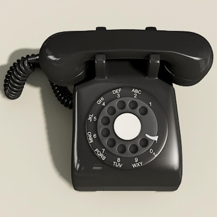 Téléphone noir royalty-free 3d model - Preview no. 5