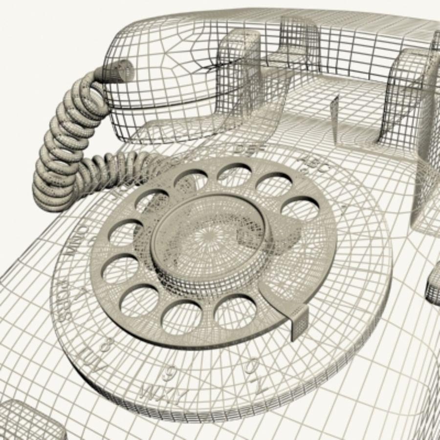 Téléphone noir royalty-free 3d model - Preview no. 16