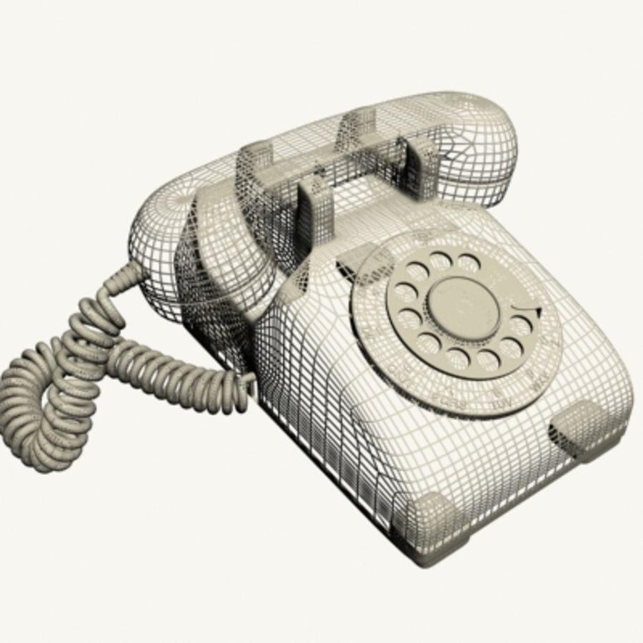 Téléphone noir royalty-free 3d model - Preview no. 15