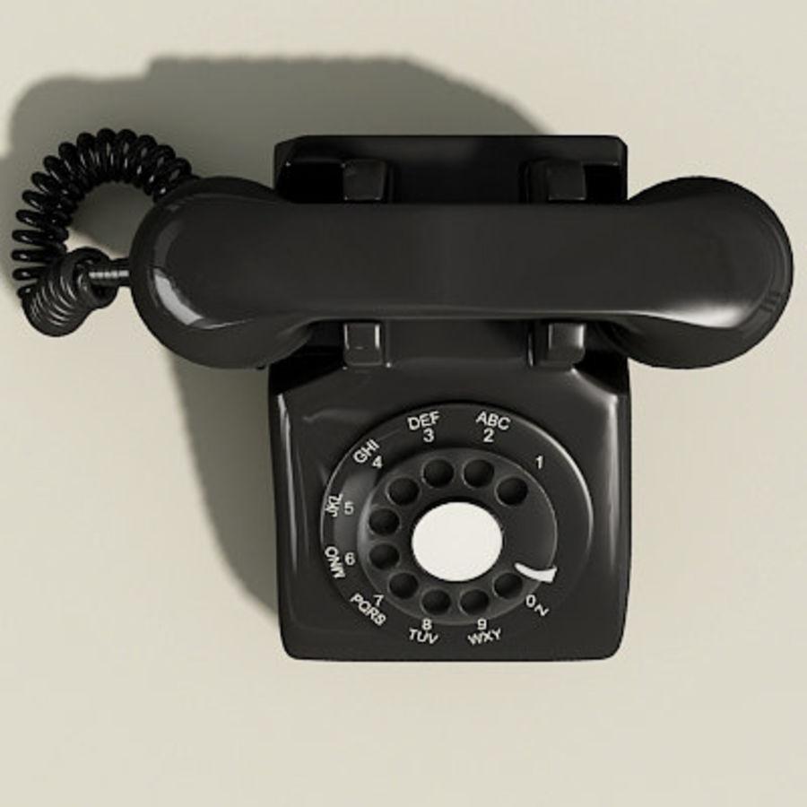 Téléphone noir royalty-free 3d model - Preview no. 6