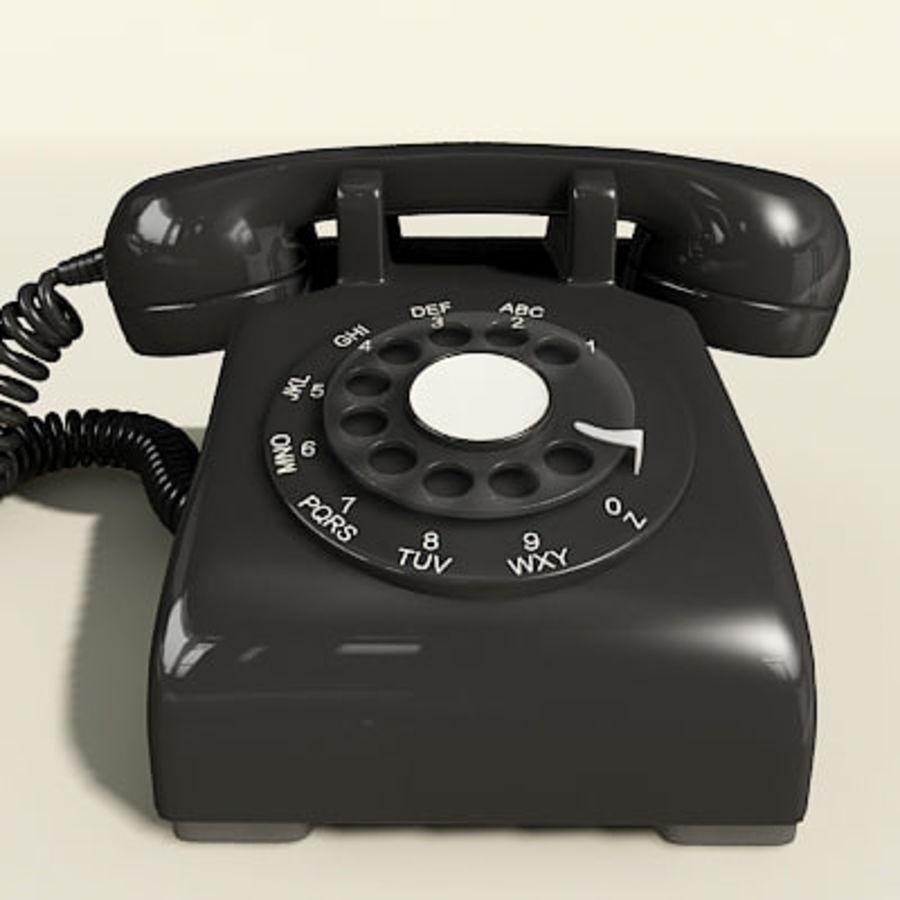 Téléphone noir royalty-free 3d model - Preview no. 7