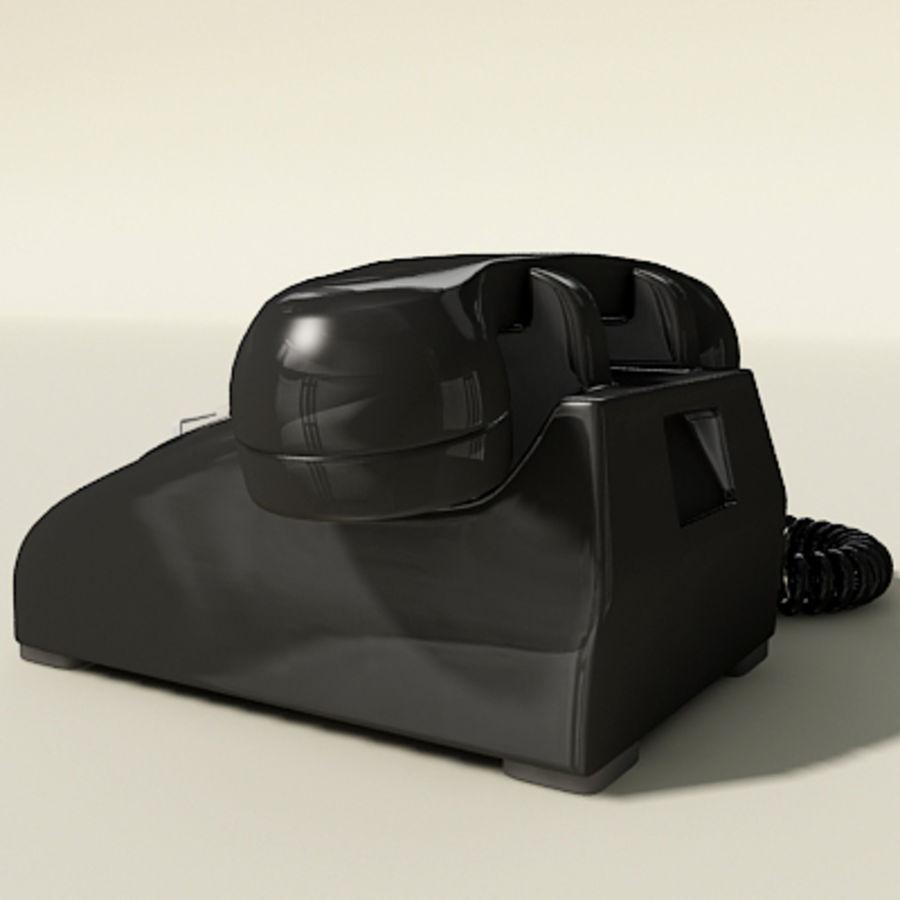 Téléphone noir royalty-free 3d model - Preview no. 4