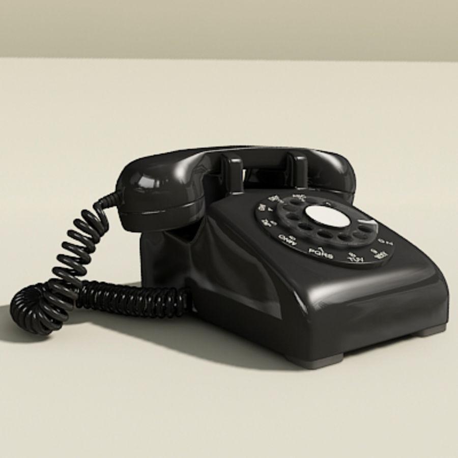 Téléphone noir royalty-free 3d model - Preview no. 3