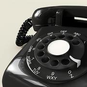 Czarny telefon 3d model