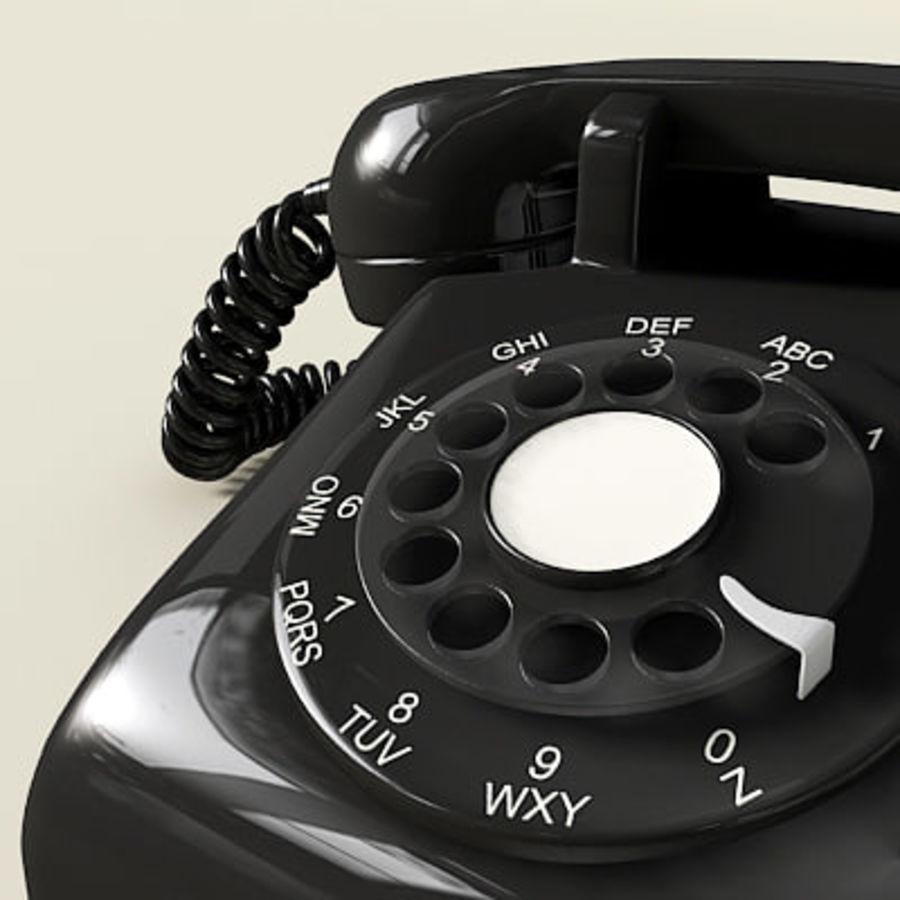 Téléphone noir royalty-free 3d model - Preview no. 1